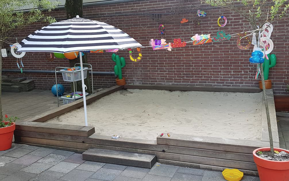 Play area in the garden